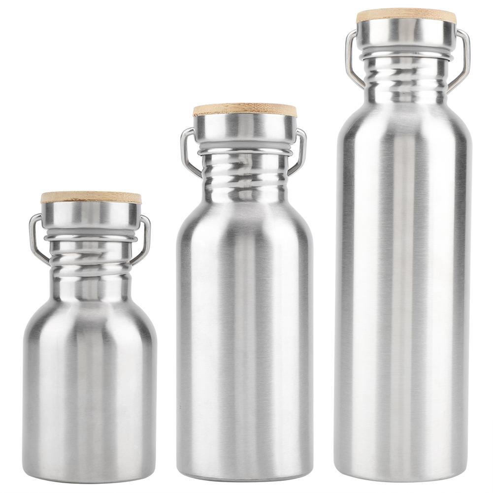 Stainless Steel Water Bottle Travel Outdoor Camping Hiking Cycling hanging ring