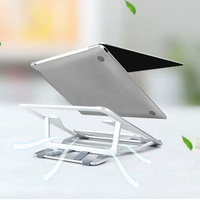 WiWU Folding Portable Laptop Stand 11 17.3 inch Notebook Universal Stand for MacBook Aluminum Adjustable Cooling Support Laptops