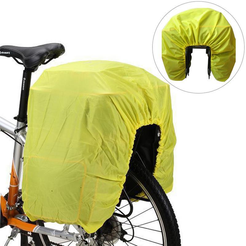 Bike Rain Cover For Bicycle Bag Mountain Road Bike Rear Seat Rack PackBag Waterproof Luggage Bag Rain Dust Cover Bike Accessorie