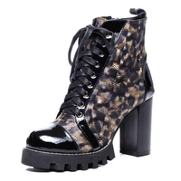 Модные женские туфли на шнуровке ботильоны на высоком каблуке ботинки martin женские вечерние свадебные 9,5 см насосы основные из натуральной к