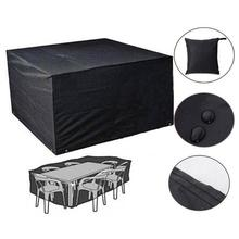 Outdoor Garden Furniture Rain Cover Waterproof Oxford Wicker Sofa Protection Set Garden Patio Rain Snow Dustproof Black Covers цена