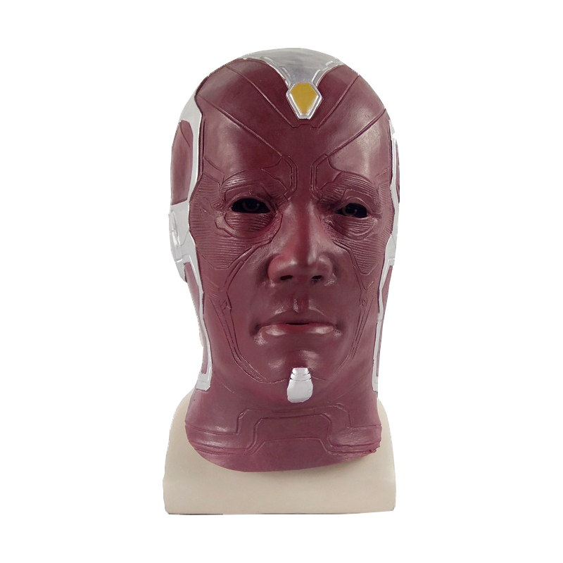 Deluxe Vision Mask Infinity Avengers Helmet Cosplay Full Face Latex Mask Costume Prop Halloween Party Masks Adult