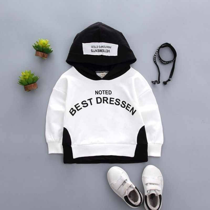 2019 Spring Autumn Baby Clothes Toddler Boys Girls Cotton Leisure Hooded Sweatshirts Infant Letter Blouse Hoodies Tops For 0-4 Y