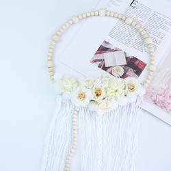 New Arrivals Nordic Style Wooden Beads Hair Ball Garland Tassel Wall Decoration Girl Hair Accessories Photography Props Hot Sale
