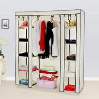 Portable Clothes Closet Wardrobe Storage Organizer With Non Woven Fabric Quick And Easy To Assemble Extra Strong And Durable