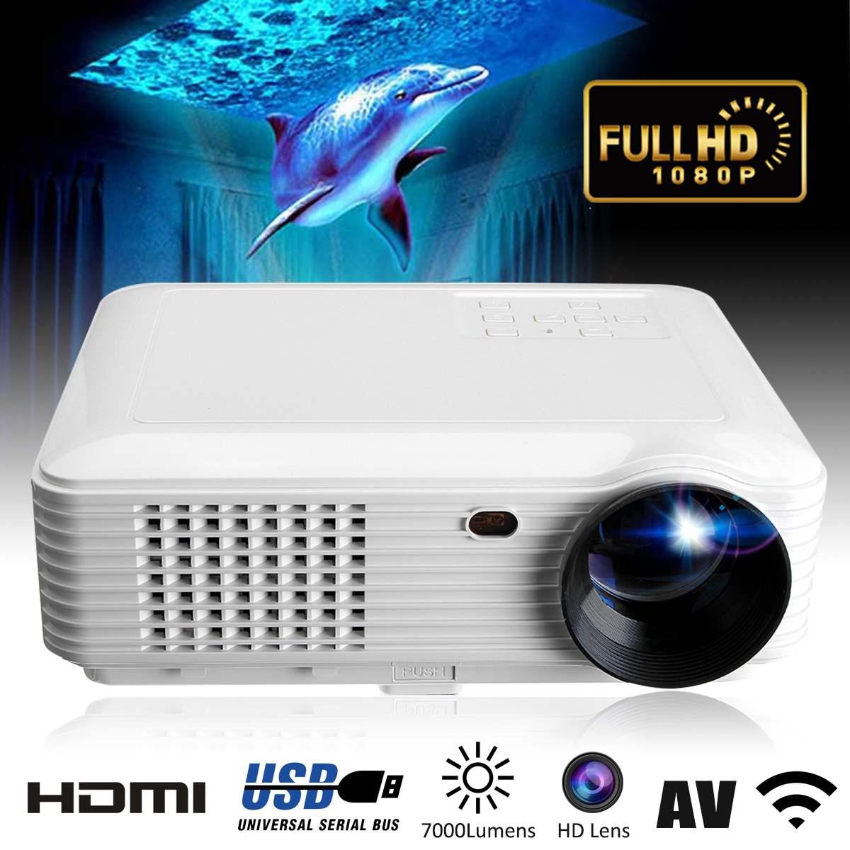 SV-226 Full HD WiFi 1080P LED Projectors Projector 8 Home Theater SD / USB / VGA / PC UK AU EU AU Plug