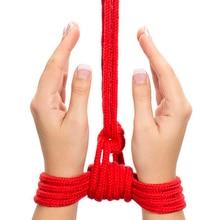 Sex Slave Black Red 10m Long Thick Soft Cotton Restraint Bondage Rope Restraints Toys For Couple Women Man Exotic Bondage Gear