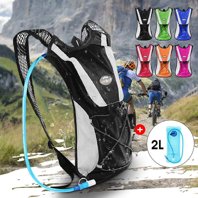 2L Outdoor Portable Water Bladder Bag Hydration Backpack Sports Camping Hiking For Cycling Bicycle Hiking Bike Mountain