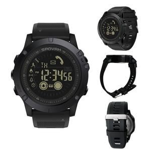 Image 2 - Spovan reloj inteligente para deportes al aire libre para hombre, reloj de pulsera con podómetro para iOS y Android, resistente al agua hasta 50M, recordatorio de llamadas y mensajes