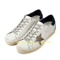 Genuine Cow Leather Casual Simple Shoes Brown Star Lace Up Vintage Do Old Dirty Shoes for Women Sport