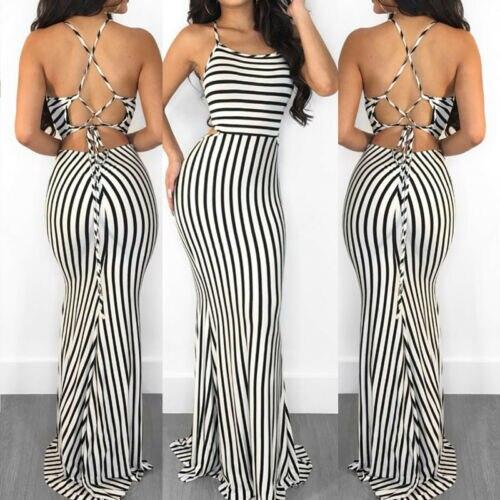 Nautical Stripe Maxi Dress 5