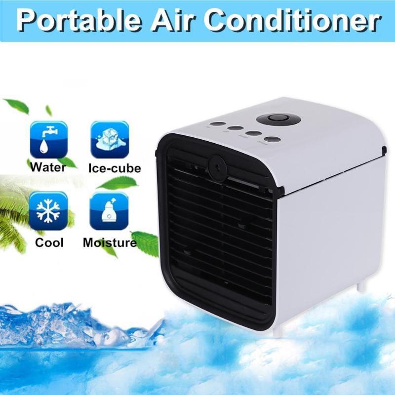 Mini Refroidisseur D'air Portable Climatiseur Humidificateur Purificateur Trois Vitesse Climatiseur Maison 7 Couleurs Lumière Ventilateur De Refroidissement
