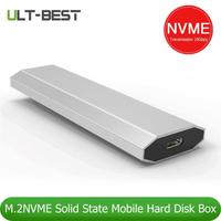 USB 3.1 Type C to M.2 M Key SSD Enclosure 2230/2242/2260/2280 NVMe Hard Disk Drive Case 10Gbps 12TB