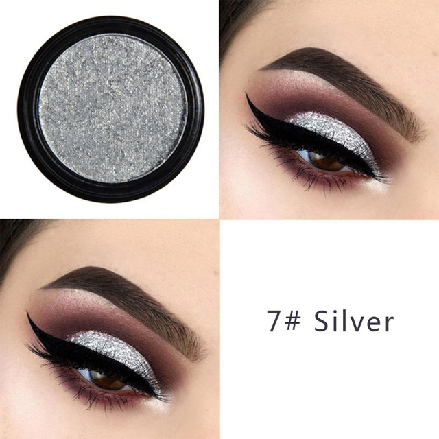 PHOERA Metal Eyeshadow Makeup Palette Red Black Color Glitter Eye Shadow Natural Eyes Make Up maquillage TSLM2 3