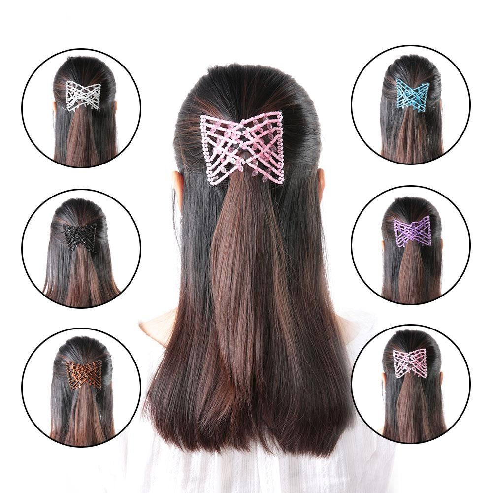 Women S Accessories Women Ladies Magic Hair Clips Stretchy Double Comb Different Hair Styles C Clothes Shoes Accessories Movimentoviverjmn Org Br