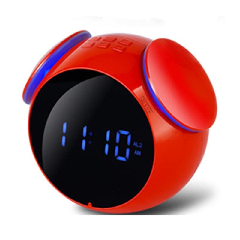 Led bluetooth Horloge Haut-Parleur alarme numérique Mini Écran Miroir bluetooth 4.2 FM Radio Bruit Étanche Annulation haut-parleur sans fil