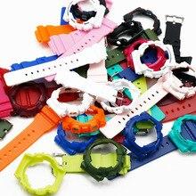 Uhr zubehör männlichen harz strap fall für Casio G SHOCK GMA S120MF S110MF S130 rubber strap uhr rahmen weibliche männer uhr band