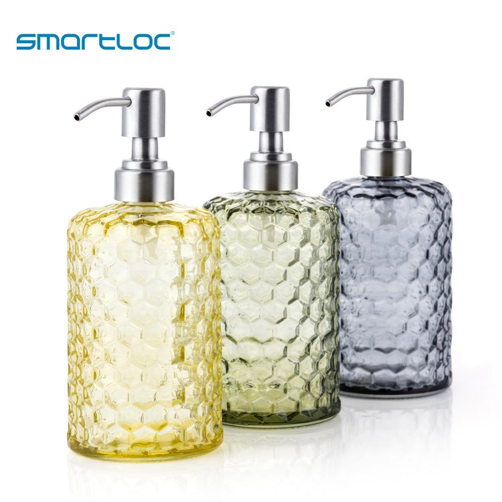 Smartloc 600ml Glass liquid Hand Soap Dispenser Pump Wall Shower Shampoo Automatic Bottle Smart Kitchen Bathroom Accessories Set