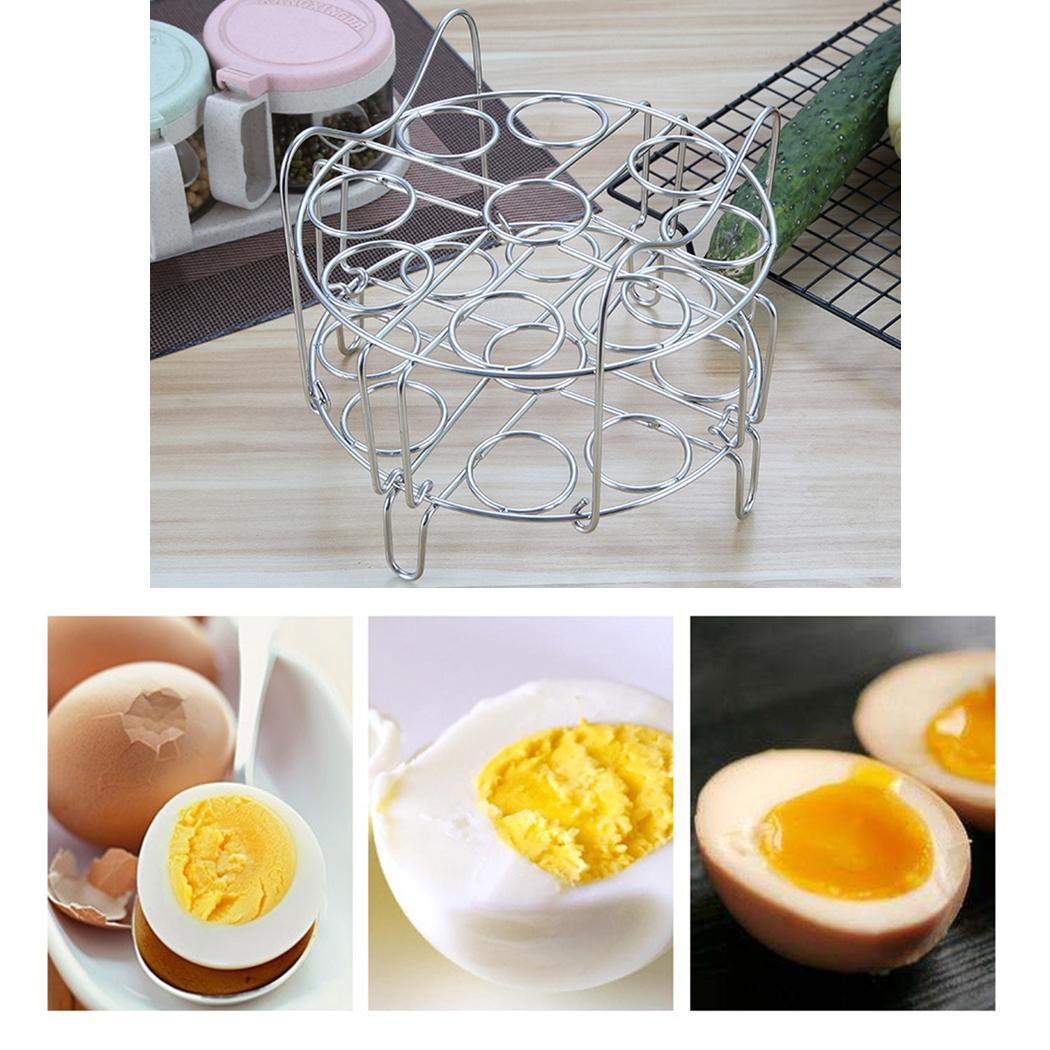 Durable Folding Double Layered Steamed Egg With Handle, Folding, Rack Shelf Steamer Kitchen 18 4cm/1.6inch