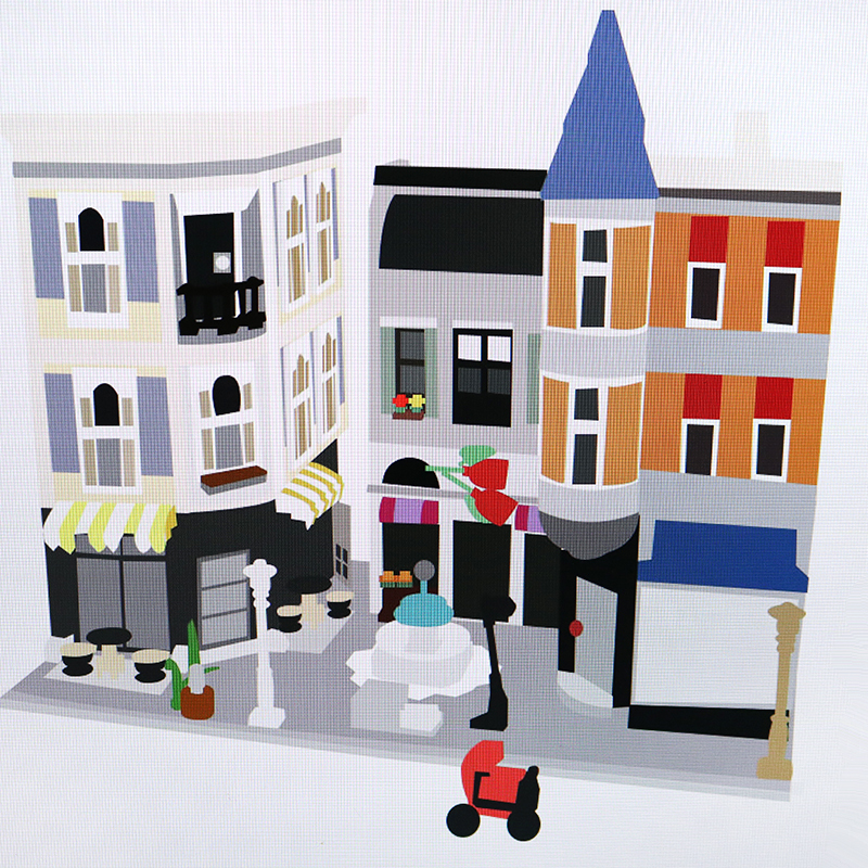 New 15019 Creator Series The Assembly Square Model Building Blocks Kompatibel  10255 Classic House Architecture Toy For|Blocks| |  - title=