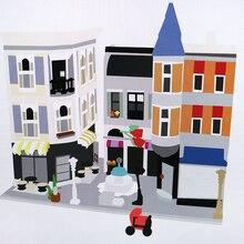 Новинка 15019 серия создателя сборка квадратная модель строительные блоки компативель 10255 классическое строение зданий игрушка для