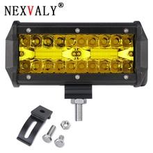 цена на 7 Inch 120w Fog light off road Led Work Light Bars for Tractor Boat Truck SUV ATV UAZ Spot Flood Combo Beam 12v 24v 3000K