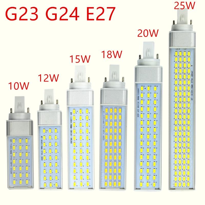 5pcs/lot G23 G24 E27 Led Lamp Bulb 10W 21Leds 5730 LED Light Warm White/Cool White Spotlight 180 Degree Horizontal Plug Light