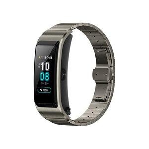 Image 3 - Huawei TalkBand B5 Bracelet de conversation Bracelet intelligent sport portable Bluetooth bracelets tactile AMOLED écran appel écouteur bande