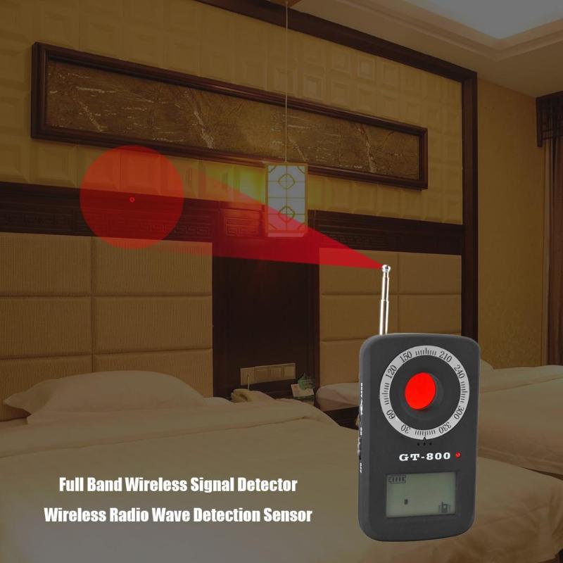 GT-800 Mini bande sans fil détecteur de sécurité de Signal sans fil détection de capteur d'ondes Radio sans fil contre la Protection d'écoute