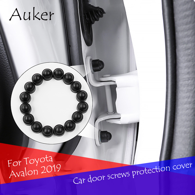 Car Styling Door Screws Protective Protector Cover Caps 16Pcs/Set For Toyota Avalon 2019