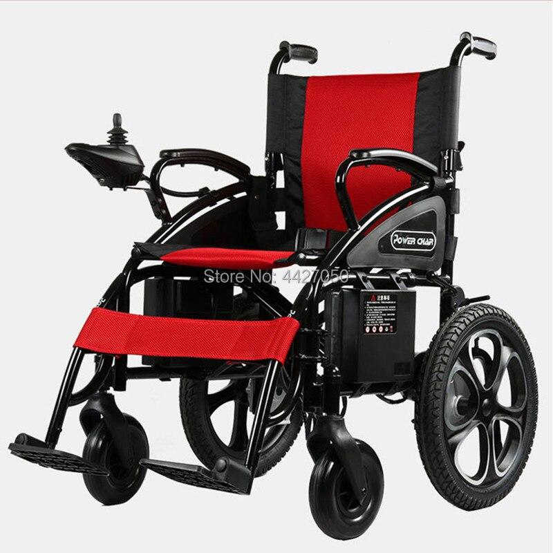 2019 livraison gratuite double moteur pliant fauteuil roulant électrique adapté aux personnes âgées et handicapées
