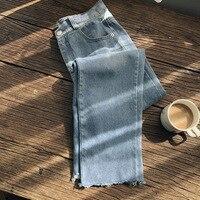 Mooirue Spring Boyfriend Jeans Woman Streetwear Korean Highwaist High Waist Women Ankle Denim Pants Bottom