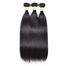 Wome מלזי ישר שיער חבילות 8 30 סנטימטרים 3 חבילות להתמודד שאינו רמי Jet שחור שיער טבעי חבילות לא סבך אין שפיכת