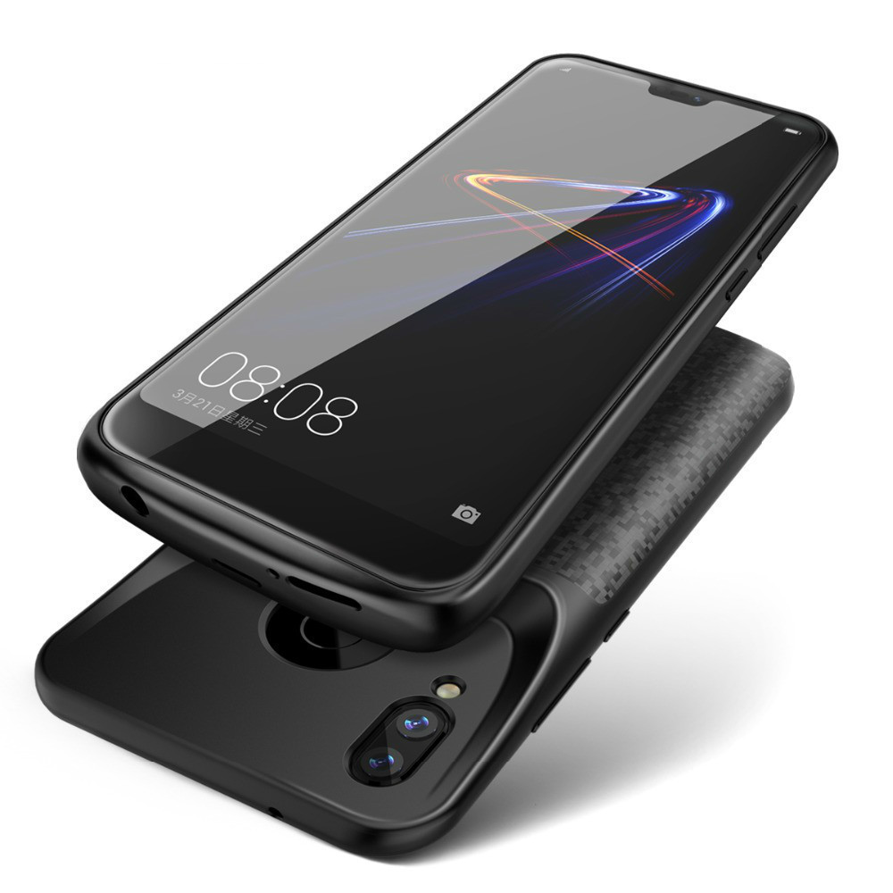 Silicone New <font><b>Battery</b></font> Charger <font><b>Case</b></font> For <font><b>Huawei</b></font> <font><b>P20</b></font> P30 Lite Nova 3e Honor 10 8 9 Charging Back Cover External Power Bank image