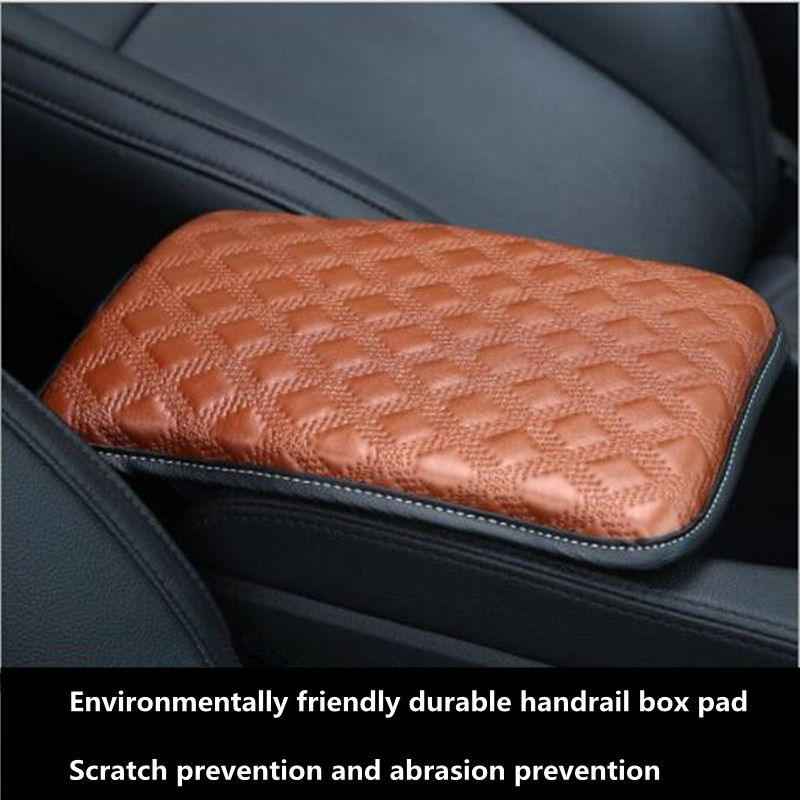 NDZHZEO Galaxy Leaves Car Center Console Armrest Cover Pad Fit Soft Comfort Protector Seat Handrail Box Cushion for Most Universal Auto