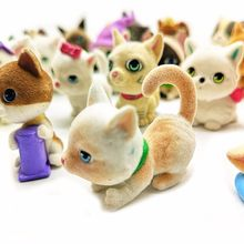 1pc Flocking Artificial Cat Dog Animal Model Figurine Craft Ornament Miniature Fairy Garden Decoration DIY Accessories(China)