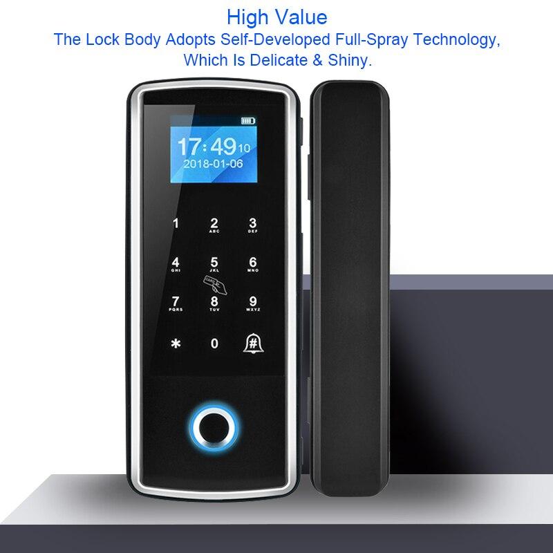 OULET Glass Lock Smart Lock Fingerprint Door Lock Card Password For Home Office Security Electric Intelligent