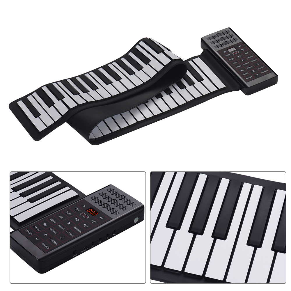 Image 5 - Portable Electric 88 Keys Hand Roll Up Piano Multifunction Digital Piano Keyboard Built in Speaker Rechargeable Lithium BatteryElectronic Organ   -