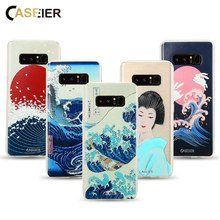 CASEIER Phone Case For Samsung Galaxy S6 S7 Edge S8 Plus Note 8 Bag Soft TPU Ultra-thin Lovely Style Cover Vintage Shell Capa