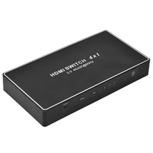 4 Ports Hdmi Switch 2.0 Hdmi Splitter 60Hz 3D 1080P Full Hd Splitter 4 Input 1 Output Support 4K x 2K Box With Remote Control