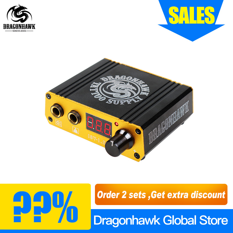 Top Quality Mini Tattoo Power Box Dragonhawk LCD For Tattoo Machine Power Switch Supply 10 pcs high quality led screen mini tattoo power supply mini power supply tattoo power tattoo ink kit supplies