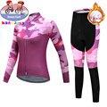2019 детская одежда nvvtrek Pro Team, комплект теплой флисовой велосипедной одежды для девочек с длинными рукавами, зимняя детская одежда для велосп...