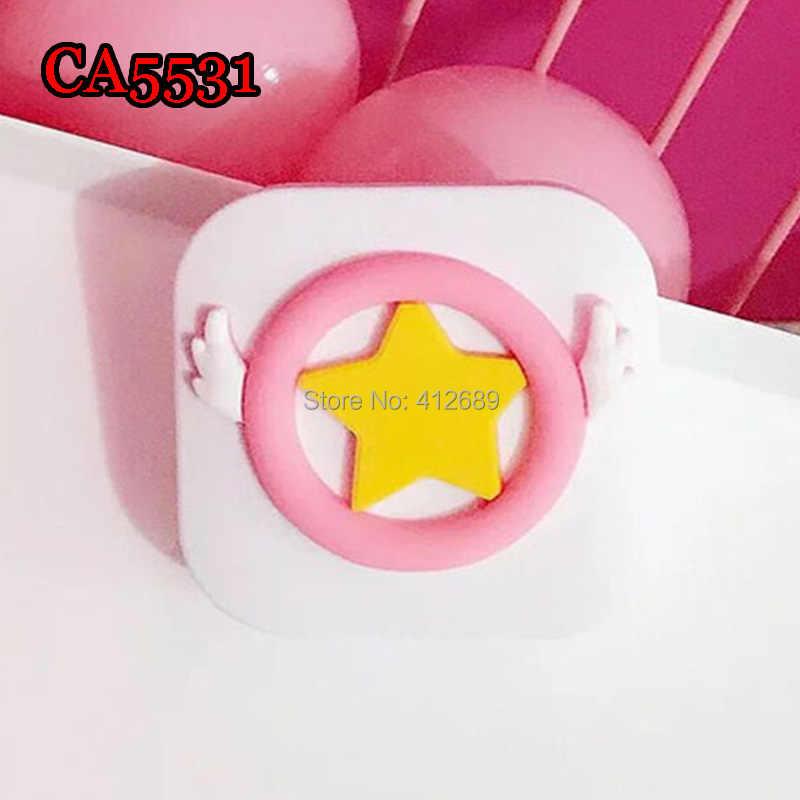 CA5531 мягкая ПВХ милая открытка captor sakura star and wing deco чехол для контактных линз
