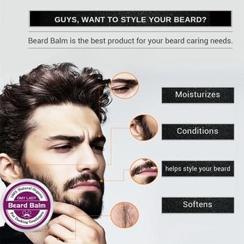 Omylady Natural Beard Balm Beard Conditioner Professional Beard Growth Organic Mustache Wax For Beard Smooth Styling 3