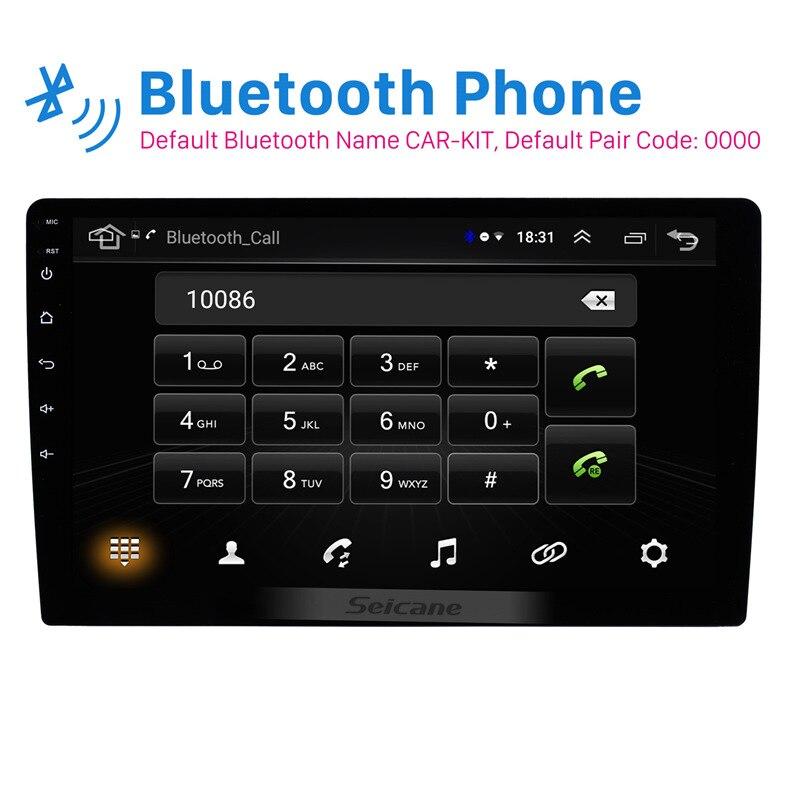 Autoradio universel Seicane pour TOYOTA COROLLA Camry Land Cruiser HILUX PRADO RAV4 Android 8.1 GPS unité de tête de lecteur multimédia - 2