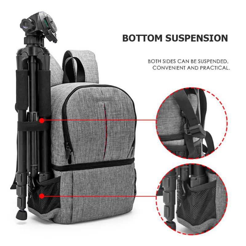 Image 4 - Photo Camera Dslr Video Waterprpof Oxford Fabric Soft Padded Shoulders Backpack Slr Bag Case For Digital Camera-in Camera/Video Bags from Consumer Electronics