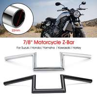 22mm 7/8 Motorcycle Handlebar Z Bar For Suzuki Cruiser Custom For Harley Touring For Honda for Yamaha for Kawasaki
