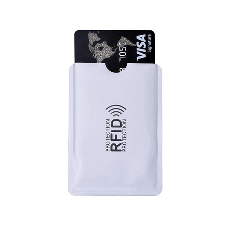 10pcs/set Metal Credit Bank ID NFC RFID Card Holder Sleeve Cover Protector Anti Magnetic Degaussing Blocking Case Container(China)