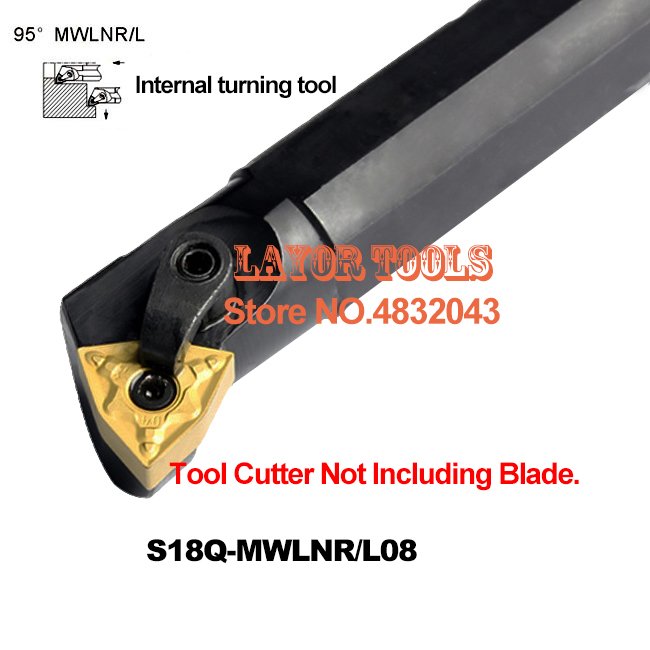 S18Q-MWLNR08 Boring Bar,Dia 18*18MM Internal Turning Tool Holder CNC Tool Holder, Lathe Cutting Tool For WNMG0804 Inserts