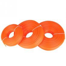 50 м/100 м/120 м 2,4 мм триммерная линия нейлоновый шнур провод круглая струна бензиновый триммер высокого качества для электрической газонокосилки